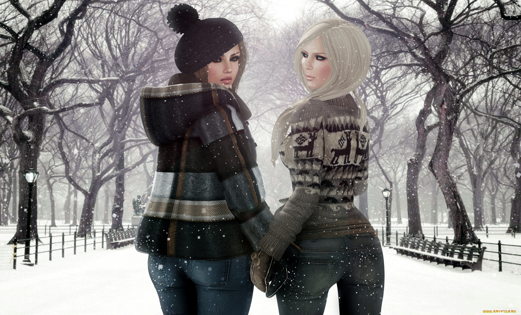 Фото подружек зимой 3 фотография
